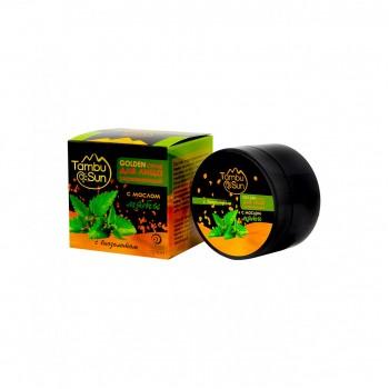 Тамбуканский GOLDEN скраб для лица - С эфирным маслом мяты (Тамбу-Сан)