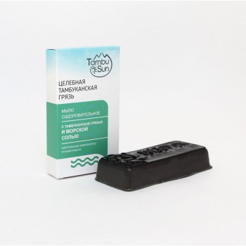 Лечебно-косметическое мыло с Тамбуканской грязью и морской солью
